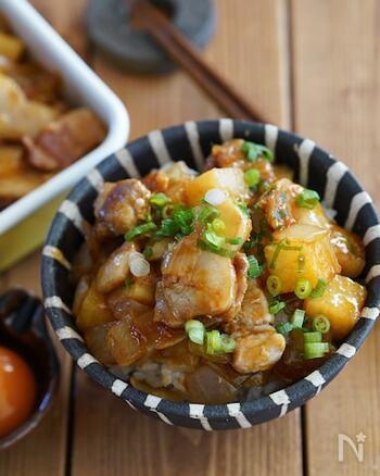 ごろごろほくほくの長いもに、たっぷり入れた玉ねぎの甘みがマッチするスタミナ系おかず。白いご飯にのせて召し上がれ♪