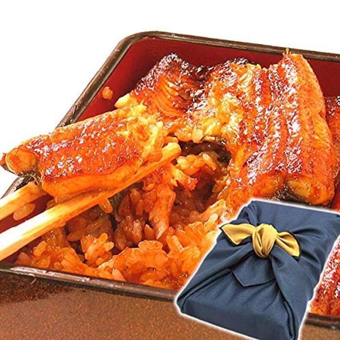 国産うなぎ ギフトランキング入り 鰻の蒲焼2~3人分 風呂敷包み