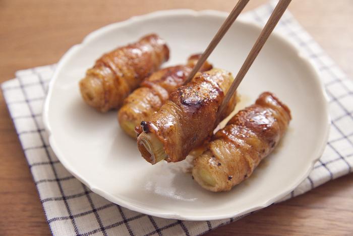 豚バラ肉の旨みを吸った長ねぎがとろっと甘い。夕食のおかずだけでなく、お弁当の一品にも最適です。
