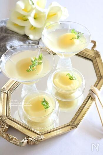 白ワイン風味のちょっぴり贅沢な味。大人の食後のデザートにぴったりですね。