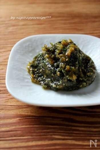 ご飯と一緒に頂きたい大葉味噌は、常備しておきたい一品。一味唐辛子を加えると、辛さが加わりさらにクセになる味わいに。