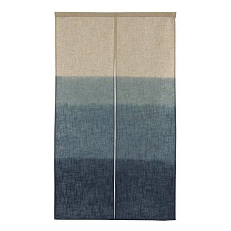 narumikk 和風のれん 日本製 段ぼかし 青 150cm丈 17-606