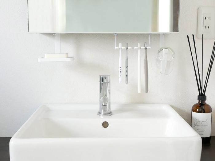 気持ち良く過ごしたい場所。使い勝手よく、美しい「洗面所」収納アイデア