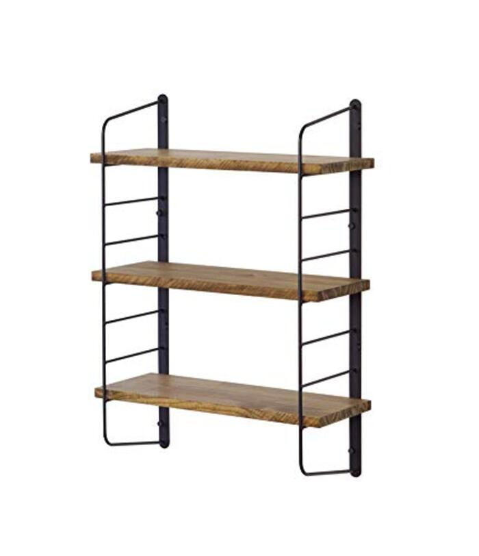 平安伸銅工業 ウォールシェルフ 3段 ブラック