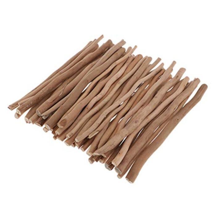 dailymall 流木 枝 木の枝 木材スティック 木の棒 細枝 ウッドスティック DIY おもちゃ 材料 約50個 全3サイズ - 20cm