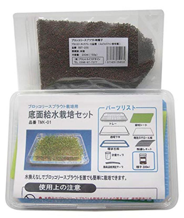 ブロッコリースプラウト種子200ml(栽培セット付き)