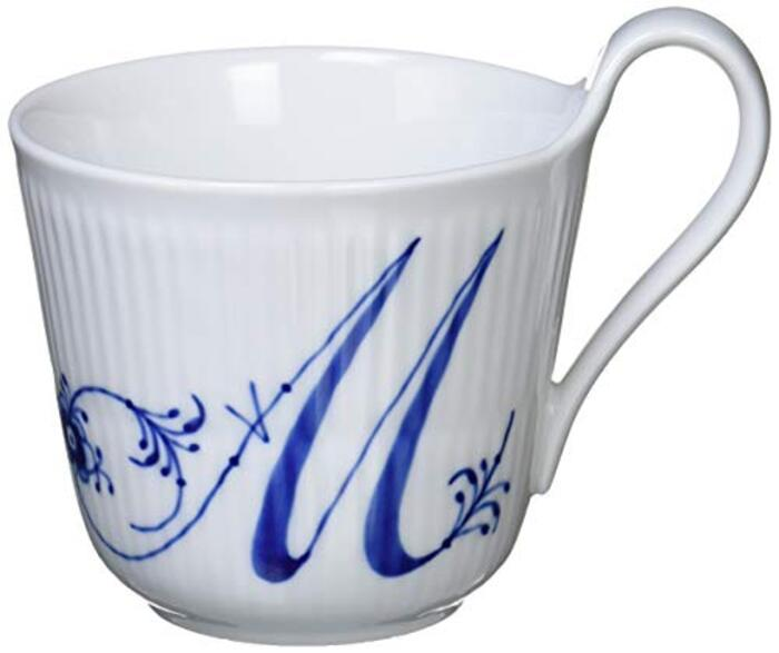 【正規輸入品】 ロイヤルコペンハーゲン ブルーフルーテッド プレイン ハイハンドル マグカップ 330ml 「 M 」