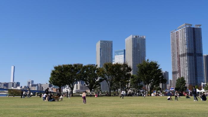 ららぽーとと隣接する「豊洲公園」は、広い芝生広場や遊具がありお子さんが思いきり遊べますよ。お弁当をもってピクニックするのもおすすめ。豊洲エリアは再開発がすすみ、新しい施設が増えているので一日過ごせそう。