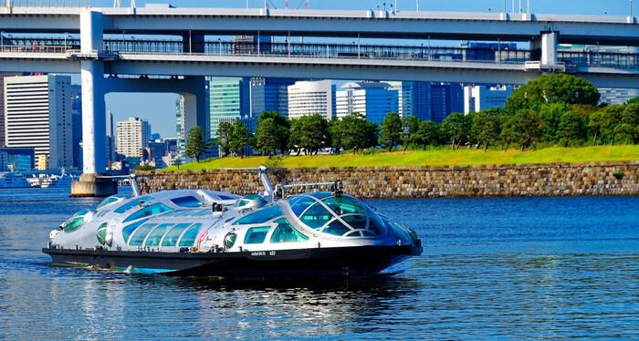 隅田川から東京湾方面へ。浅草発「水上バス」でゆったり東京めぐり♪