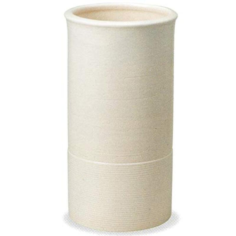風の水琴工房 クレイホワイトライン傘立 信楽焼