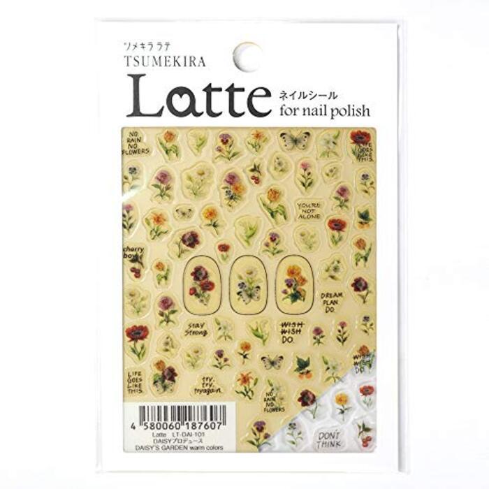 ツメキラ TSUMEKIRA Latte/DAISYプロデュース ネイルシール/フラワー