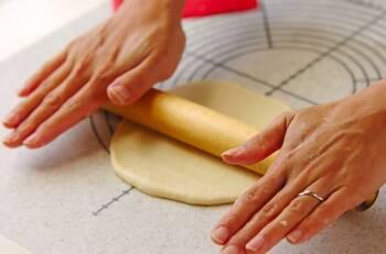 材料を混ぜ合わせて、しっかりこねるだけで簡単!発酵なしのピザ生地レシピです。 水分を少しずつ加えて、生地がまとまればOK!生地がまとまったら、なめらかになるまでしっかりとこねましょう。 とくに難しい工程はないので、初心者にもおすすめです。