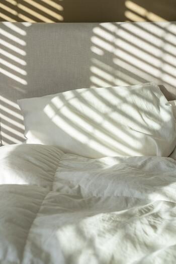 不安やストレスに飲み込まれないためには、質のよい睡眠が欠かせません。この記事でも、不安は脳の扁桃体が司っていると説明しましたが、しっかりと睡眠をとらないと扁桃体が休めずに過活動になり、より不安を感じやすくなってしまいます。  朝日をしっかりと浴びて、反対に寝る前の光刺激を避けることがポイント。眠りを引き起こすメラトニンがしっかりと働いて、睡眠へと誘ってくれますよ。