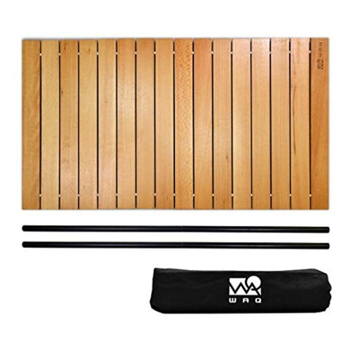 WAQ アウトドアワゴン 専用 ウッドロールテーブル ワゴンテーブル