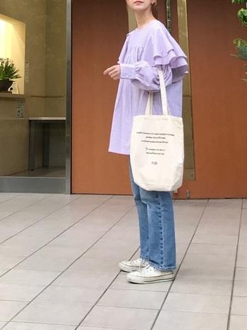 すっきり大人に。甘くないシャーベットカラーの着こなし