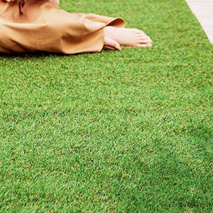 アイリスオーヤマ 人工芝 防草 国産 1×1 ロールタイプ 芝丈3cm Uピン付属なし