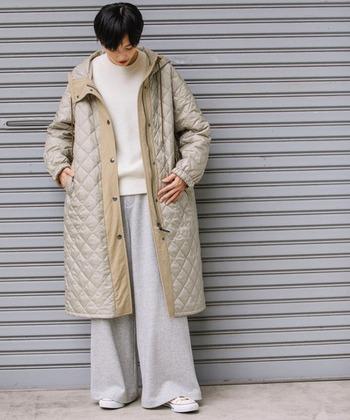 軽くておしゃれで暖かい*「キルティングコート」おすすめと参考コーデ
