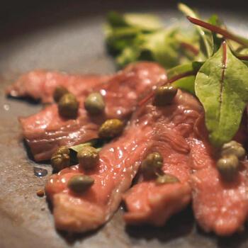 ■滑らかな牛肉のカルパッチョ(BONIQ公式レシピ)