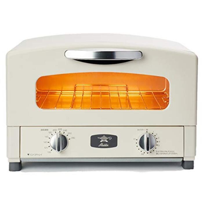 Aladdin (アラジン)  グラファイト トースター 2枚焼き 温度調節機能 タイマー機能付き