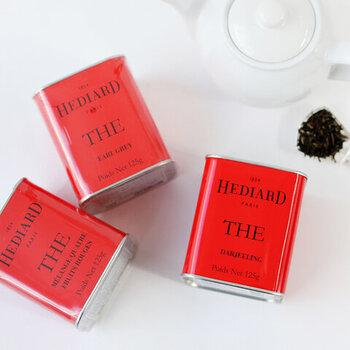 赤いパッケージがおしゃれなエディアールの紅茶。厳選された茶葉を使用しているため、繊細で奥深い味わいが楽しめます。ぜひストレートで淹れるのがおすすめです。