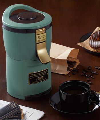 豆挽きからドリップまで1台でOKのコーヒーメーカー。存在感あるスタイリッシュな見た目で、おしゃれなインテリアにも馴染んでくれます。