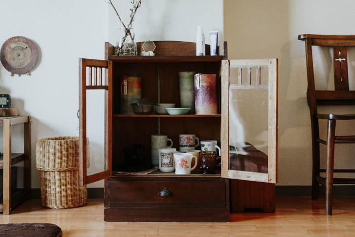 木製の家具や古道具が、昭和にタイムスリップしたような懐かしさを与えてくれるのが昭和レトロスタイルです。日本人にとって一番馴染のあるスタイルではないでしょうか?