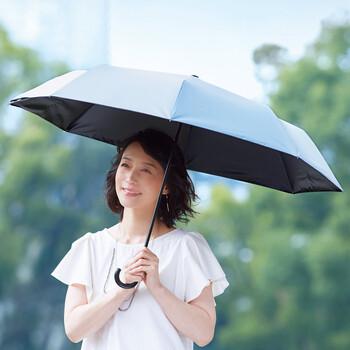 女性に人気の通販サイト「フェリシモ」でも、素敵なレディース折りたたみ傘を見つけました。  晴雨兼用で、実はユニークな機能付き。傘にポケットバッグがくっついているんですよ。  一見すると、普通の折りたたみ傘ですが、面白いのは閉じ方。傘を閉じて、くるんとひっくり返すと、バッグに大変身!閉じたり、開いたりを頻繁に繰り返すお出かけや、雨の日に傘を閉じて移動することが多いときに便利です。