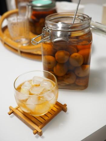 焼酎+炭酸+梅酢の組み合わせは、爽やかに一杯飲みたい日の晩酌にぴったり。甘い梅酒に比べて、塩気と酸味のある梅酢は口当たりがすっきりしているのが特徴です。食事とも合わせやすいですよ。