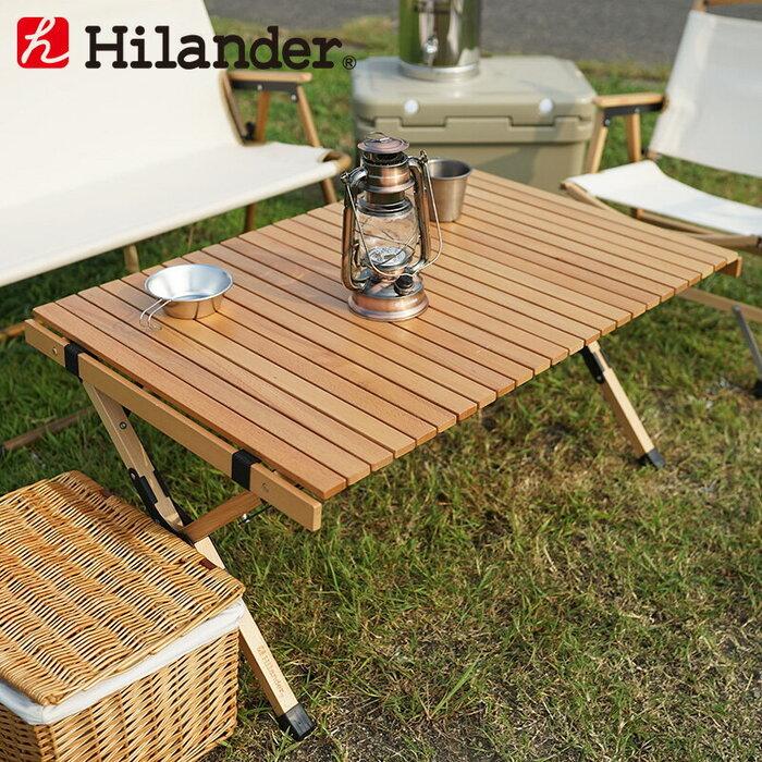 Hilander(ハイランダー) ウッドロールトップテーブル2 90