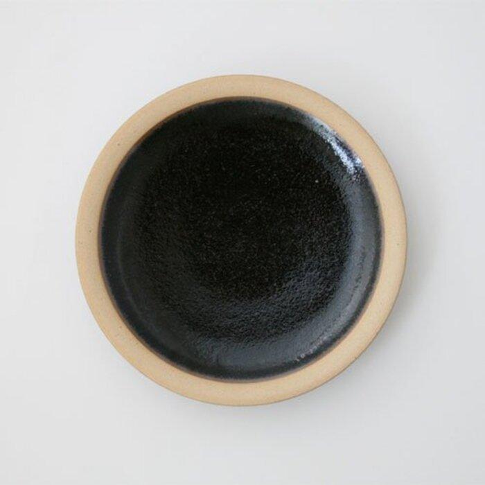柳宗理 出西窯 丸皿中 黒
