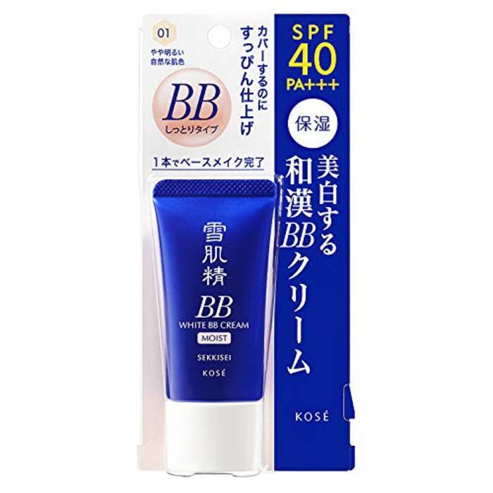 雪肌精 ホワイト BBクリーム モイスト 001 やや明るい自然な肌色 30g