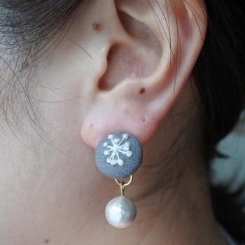 ギフトにも最適!耳元を彩る「刺繍ピアス」の作り方