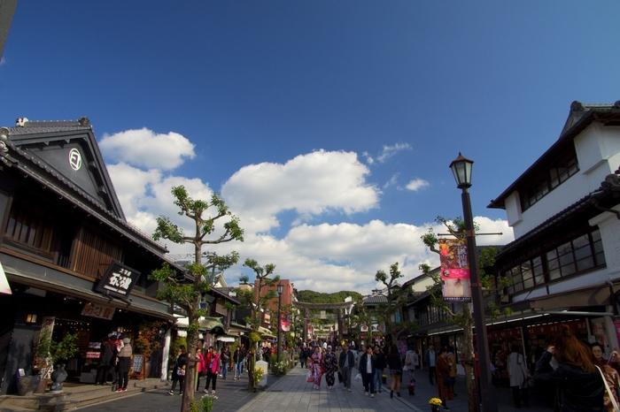 参道での食べ歩きも、太宰府天満宮を訪れた際の楽しみのひとつ。参道の両脇にさまざまなお店が並びます。名物グルメを食べたり、お土産をじっくりと吟味したり、ゆっくりと散策しながら満喫しましょう!