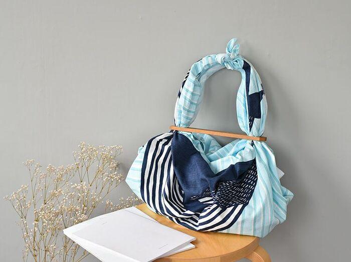 お気に入りの布と持ち手で。簡単【風呂敷バッグ】の作り方