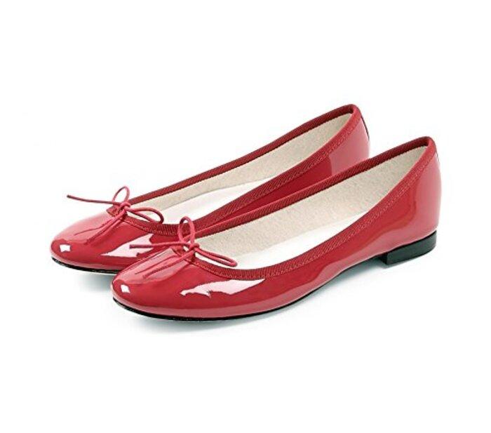 [レペット] 正規取扱店 Ballerina Cendrillon バレリーナシューズ サンドリオン (37 (23.3cm), Patent Red)