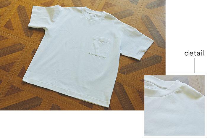 ゆったり着られるユニセックスの4サイズ(4XS~3XS/XXS~XS/S~M/L~XL)展開する「インド綿二重編みビッグTシャツ」。細い糸を二重に編んだ毛羽立ちの少ないジャージー素材で、表面がさらりとクリアな印象のTシャツです。しっかりした首元のリブや、胸ポケットがポイント。