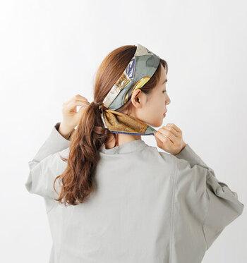 簡単なのにかわいい♪「スカーフ・バンダナ」でつくる大人のヘアアレンジ