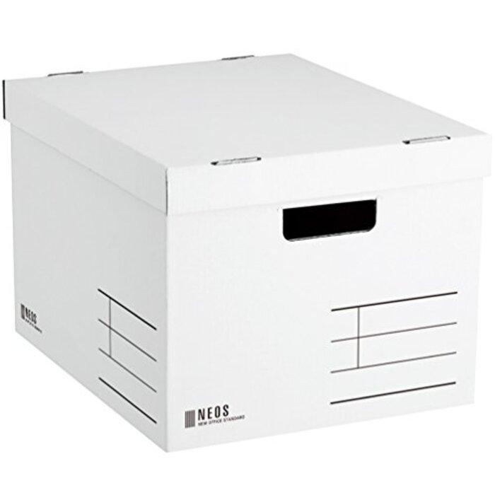 コクヨ 収納ボックス NEOS Lサイズ フタ付き ホワイト