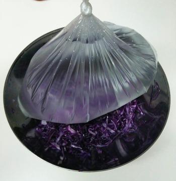 重しはポリ袋に水を入れ、口を絞ったものを使うと全体に圧がかかります。