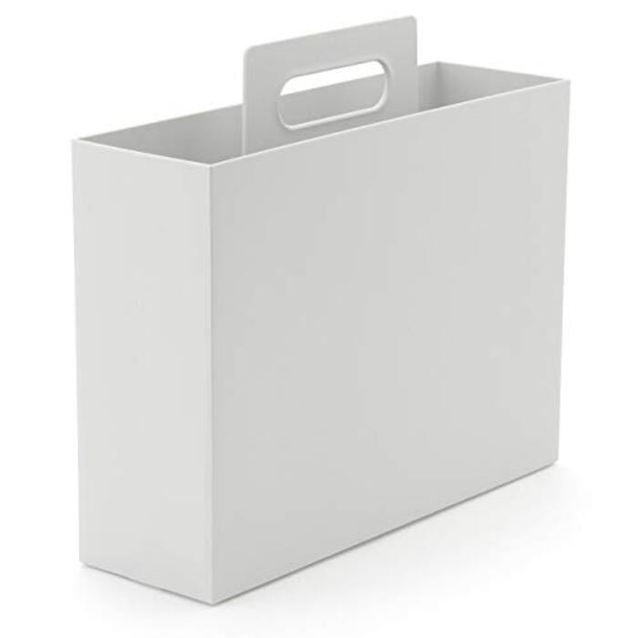 無印良品 ポリプロピレン持ち手付きファイルボックス・スタンダードタイプ・ホワイトグレー