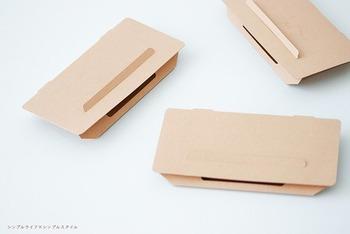 無印良品のごきぶり取りは、カバーではないですが、シンプルなクラフト紙で、ぱっと見ると何だかかわからないほどシンプルでデザインがgood!  下駄箱下に忍ばせておいても気にならないですね。
