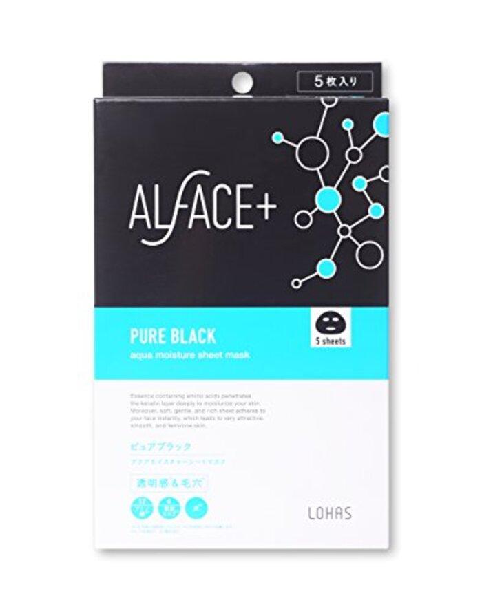 ALFACE シートマスク ピュアブラック