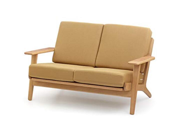 ハンス・J・ウェグナー GE290 Easy Chair (イージーチェア) / 2Pソファ / リプロダクト品 (ベージュ)