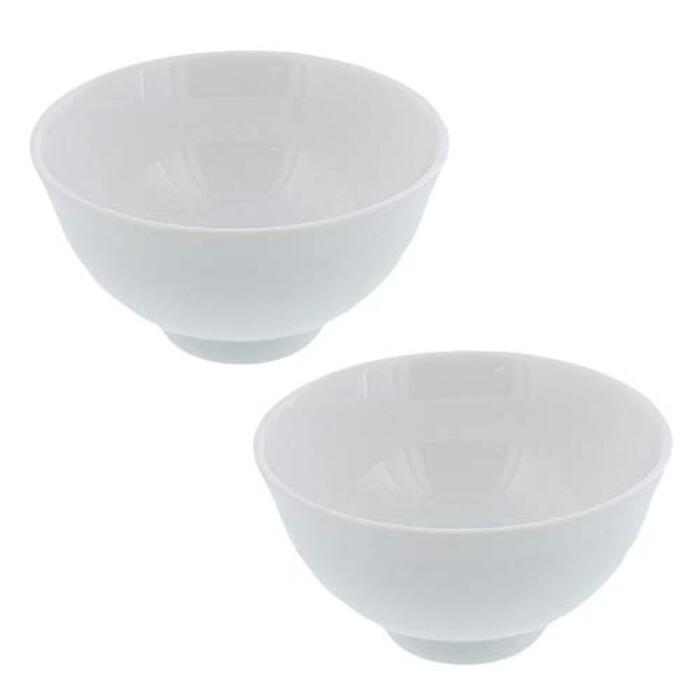 テーブルウェアイースト ゆらぎ茶碗 ホワイト 2個セット