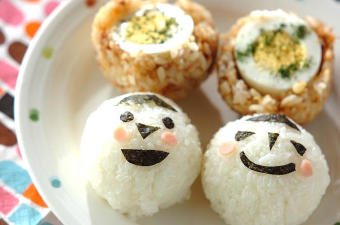 子供も大人も、思わずにっこりしてしまいそうな可愛いおにぎり。気がめいりそうな梅雨の季節だからこそ、ハッピーなお料理でみんなを元気にしてあげましょう!