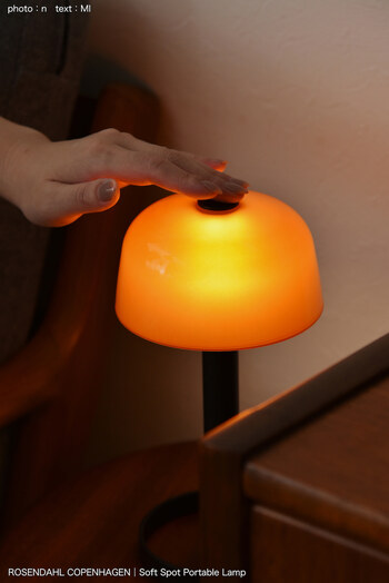 雨や曇りのどんよりと薄暗い日に、柔らかな灯りをもたらしてくれるランプ。  玄関にあると作業しやすいだけでなく、ほどよい灯りに癒やされます◎  北欧らしいシンプルで機能美あふれるデザインですね。