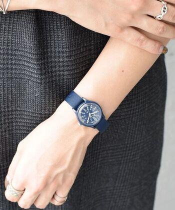 1854年創業の歴史を長い歴史を誇るアメリカンブランドTIMEX(タイメックス)。アメリカ大統領も愛用したスポーツウォッチ「アイアンマン」シリーズなどが有名です。  ナチュラルさんにもぴったりの可愛らしいものから、タフでユニークな腕時計が幅広く揃っています。