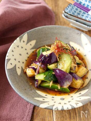 副菜から主菜まで。夏野菜の定番「なす」×「きゅうり」で美味しいレシピ