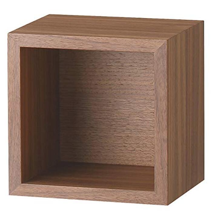 無印良品 壁に付けられる家具・箱・1マス・ウォールナット材