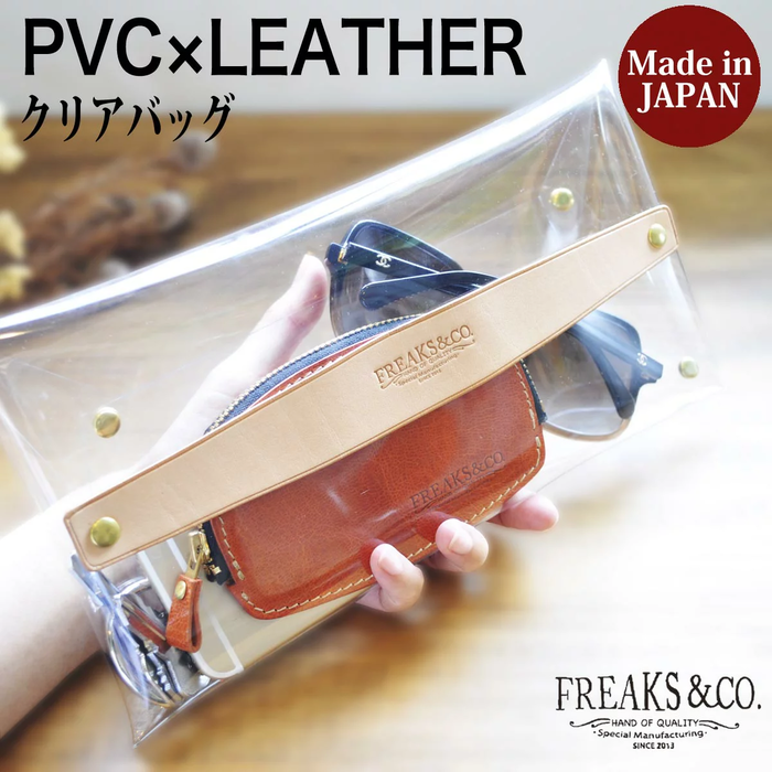 Freaks&co. PVCの 可愛い クリアクラッチバッグ 全3色